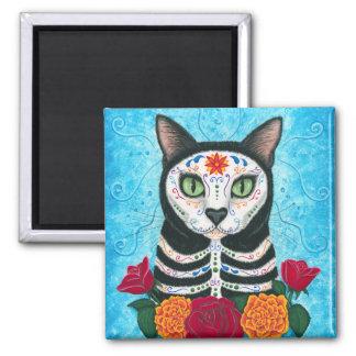 死んだ猫の砂糖のスカルの芸術の磁石の日 マグネット