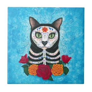 死んだ猫の砂糖のスカル猫の芸術の日 タイル