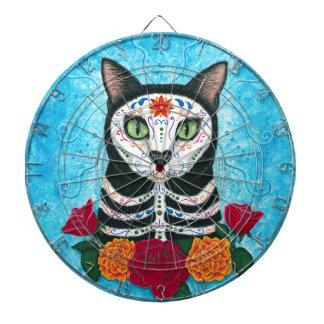 死んだ猫の砂糖のスカル猫の芸術の日 ダーツボード