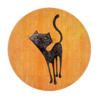 死んだ猫の黒いメキシコ日 カッティングボード