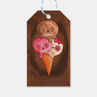 死んだ砂糖のスカルのアイスクリームの日 ギフトタグ