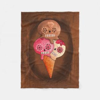 死んだ砂糖のスカルのアイスクリームの日 フリースブランケット