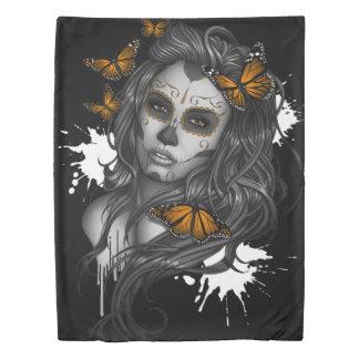死んだ砂糖のスカルの女の子の日 掛け布団カバー