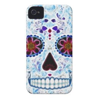 死んだ砂糖のスカルの日-空色のフラクタル Case-Mate iPhone 4 ケース
