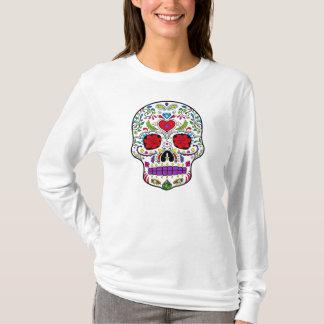 死んだ砂糖Skull Dia de los Muertosの日 Tシャツ