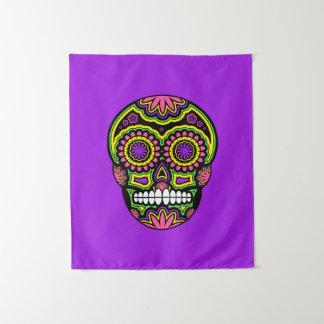 死んだ紫色のメキシコ砂糖のスカル日 タペストリー