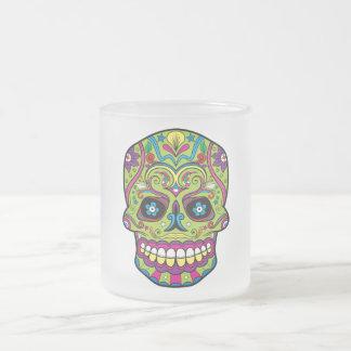 死んだ緑のスカルの日 フロストグラスマグカップ