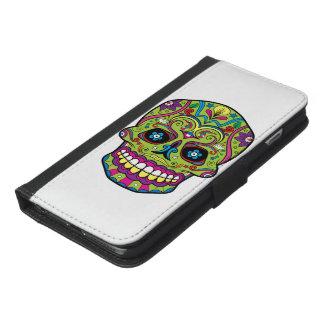 死んだ緑のスカルの日 iPhone 6/6S PLUS ウォレットケース