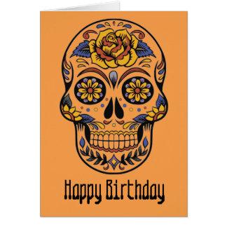 死んだ誕生日のメキシコスカル日 カード