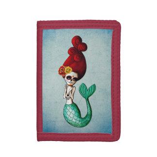 死んだ赤い毛の人魚の日 ナイロン三つ折りウォレット