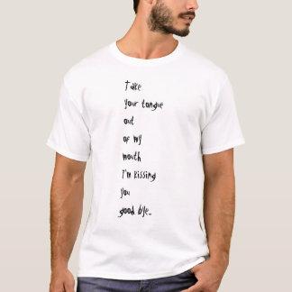 死んだ車海老メンズはあなたの舌のTシャツを取ります + ロゴ Tシャツ