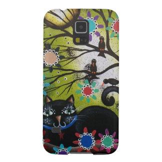 死んだ、メキシコ、黒猫のロリ地方Everett_日までに Galaxy S5 ケース