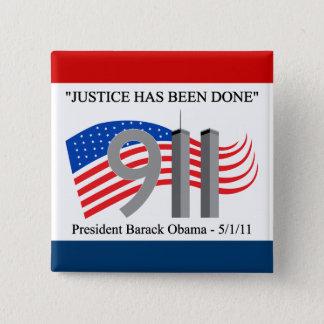 死んでいるオサマ・ビン・ラディン-正義は行われました 缶バッジ