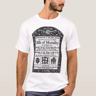 死亡率1665年の手形 Tシャツ