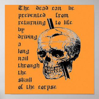 死体のスカルを通して長いネイルを運転すること ポスター