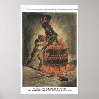 死体- 1897人のフランス人新聞プリント--を燃やします ポスター