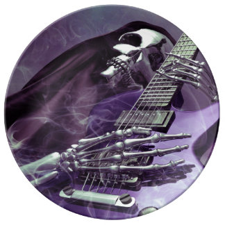 死神のギターの磁器皿 磁器プレート