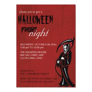 死神のハロウィンの招待状 カード