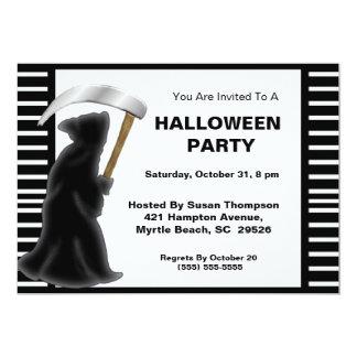 死神のハローウィンパーティの招待状 カード
