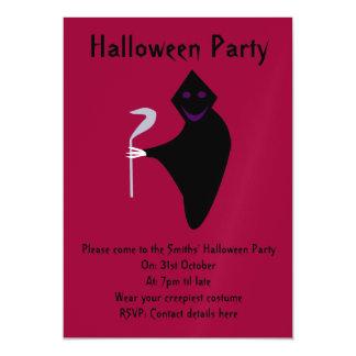 死神のハローウィンパーティの招待 マグネットカード