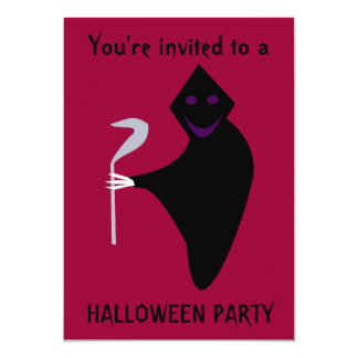 死神のハローウィンパーティカスタマイズ可能なInvitatio カード