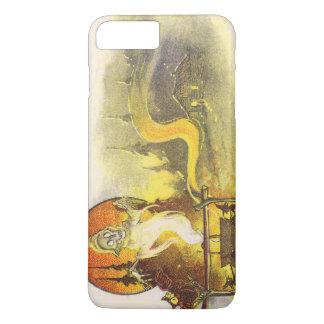 死神のフクロウのキャンプファイヤーの大がまの小屋の森林 iPhone 8 PLUS/7 PLUSケース