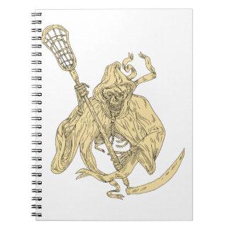 死神のラクロスの棒のスケッチ ノートブック
