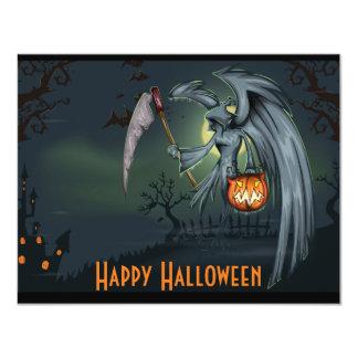 死神の墓地のハロウィンの招待状 カード