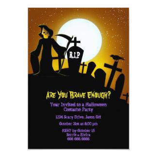 死神の恐いハローウィンパーティ カード