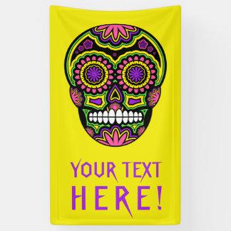 死者のあなたの文字のメキシコ砂糖のスカル日 横断幕