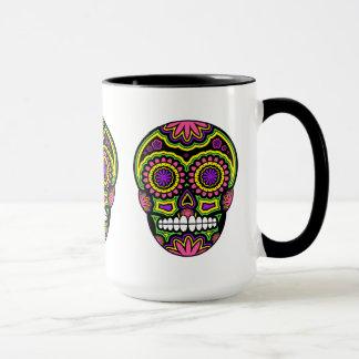 死者のカラフルなメキシコ砂糖のスカル日 マグカップ