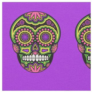 死者のメキシコ砂糖のスカルパターン日 ファブリック