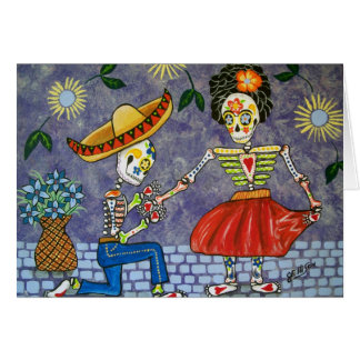 死者の日提案の結婚式の日付Notecard カード