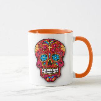 死者の赤いメキシコ砂糖のスカル日 マグカップ