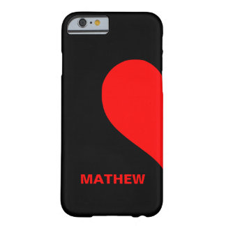 残されたハートに一致させるかわいくカスタムなカップルの名前 BARELY THERE iPhone 6 ケース