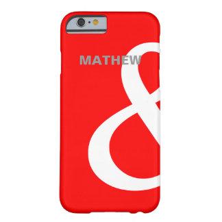 残っている赤く白いアンパーサンドの恋人の名前の一致 BARELY THERE iPhone 6 ケース