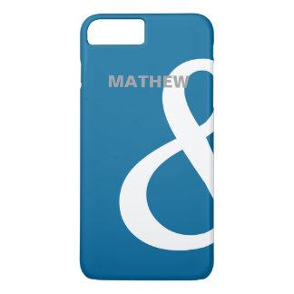 残っている青く白いアンパーサンドの恋人の名前の一致 iPhone 8 PLUS/7 PLUSケース