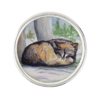 残りのオオカミ ラペルピン