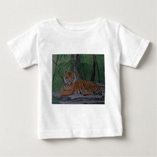 残りのトラ ベビーTシャツ