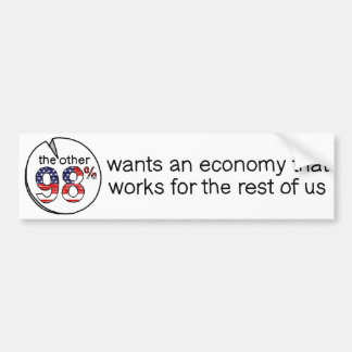 残りの人達のために働く経済がほしいと思います バンパーステッカー