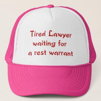 残りの令状の帽子を待っている疲れた弁護士 キャップ
