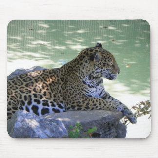 残りの斑点を付けられたジャガー マウスパッド
