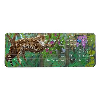 残りの無線電信のキーボードのジャングルのヒョウ ワイヤレスキーボード