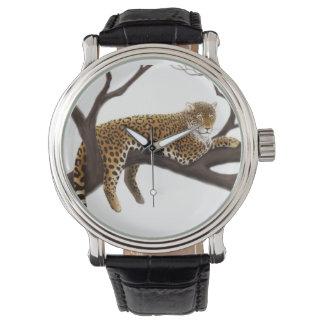 残りの腕時計の野生のヒョウ 腕時計