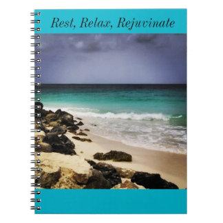残りは、リラックスし、螺線形ノートを活性化させます ノートブック