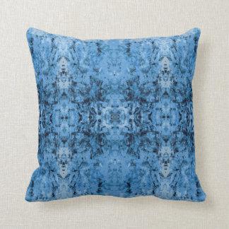 「残り物」の青いパターン クッション