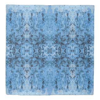 「残り物」の青いパターン 掛け布団カバー
