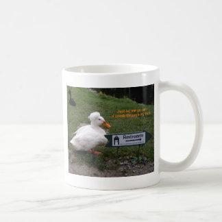 残り部屋のアヒル コーヒーマグカップ