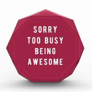 残念で、余りに忙しい素晴らしいがあること 表彰盾