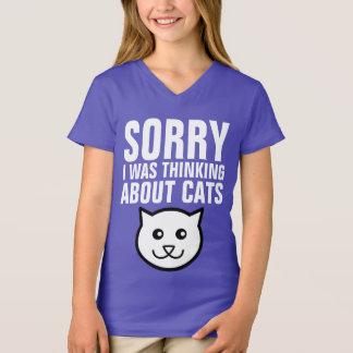 残念なおもしろいな子供CATのTシャツ私は考えるな猫でした Tシャツ
